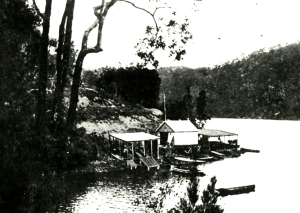 This image of the famous Berowra Waters Boatshed was taken in 1909, only a few years before war broke out